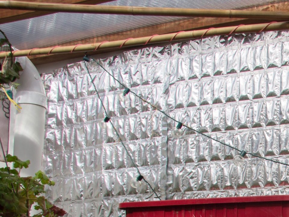 Get more out of your solar greenhouse this winter with Phase Change Material