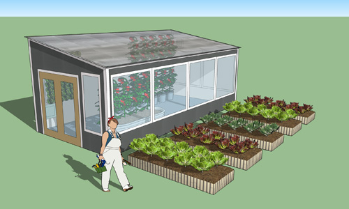 Backyard year round greenhouse kit ceres greenhouse for Green kit homes