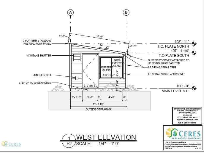 Engineered Greenhouse Plans – Green House Floor Plans