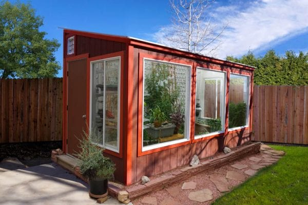 Custom Barn Red Greenhouse