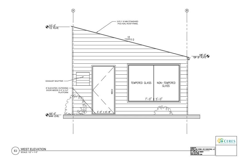 standard greenhouse plans