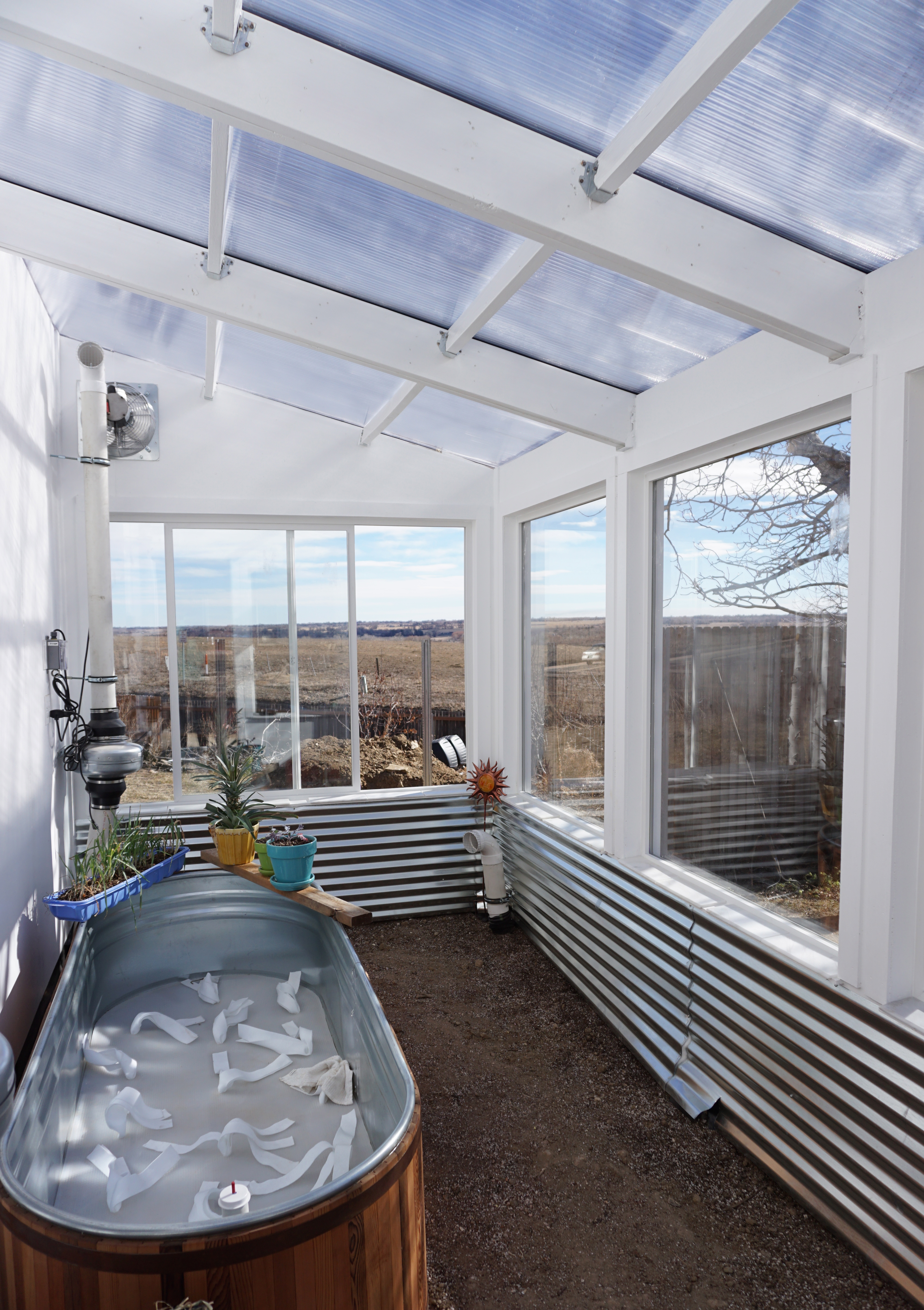 solar greenhouse glass and polycarbonate