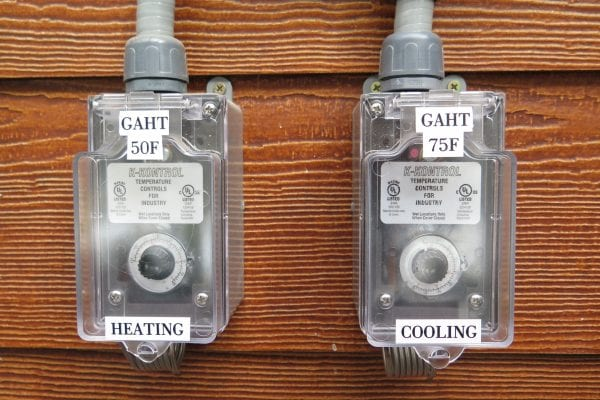 Greenhouse Controls for GAHT system