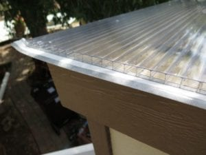 Triple wall durable polycarbonate greenhouse roof