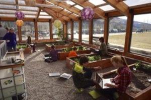 Year-round School greenhouse