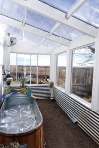 Passive solar greenhouse design by Ceres Greenhouses