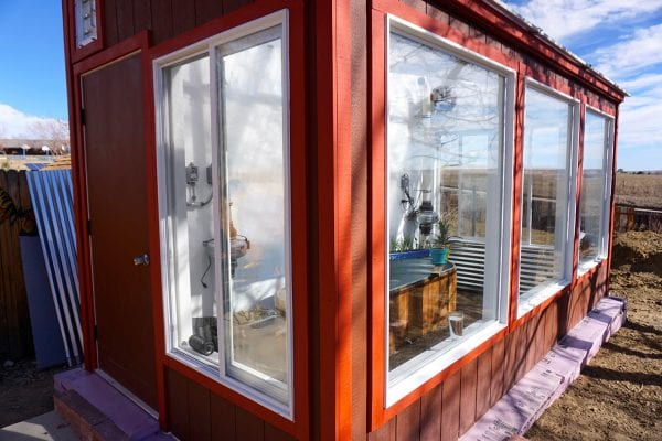 Custom Barn Red Greenhouse