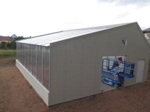 Energy-efficient hybrid cannabis greenhouse