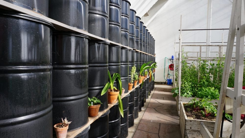 water wall passive solar greenhouse