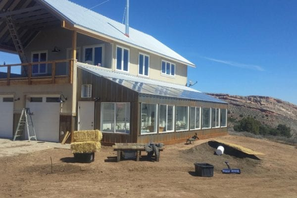 Attached Solar Greenhouse Addition