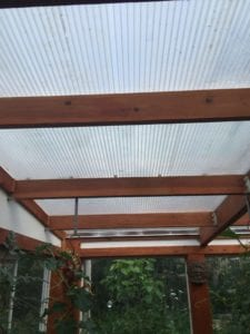 greenhouse glazing from the inside