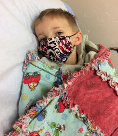 sick child in the hospital