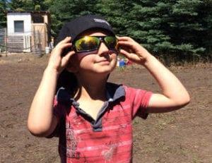 Kaiel in sunglasses