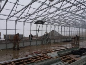 framing a greenhouse