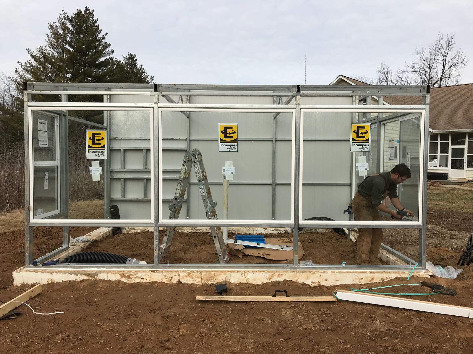 Building a Backyard Kit greenhouse