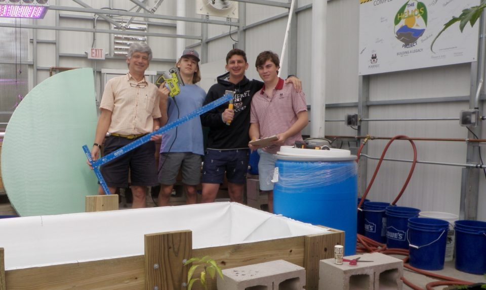 Pomfret School Passive Solar Aquaponics Greenhouse Comes to Life: Summer 2018 Update