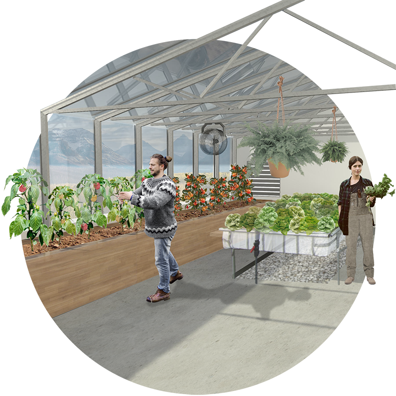 internior render greenhouse