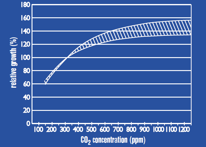 CO2 graph of growth